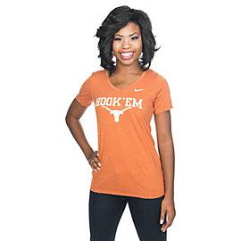 Texas Longhorns Nike Womens Cotton Logo Short Sleeve Tee