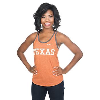 Texas Longhorns Nike Womens Marled Wordmark Tank