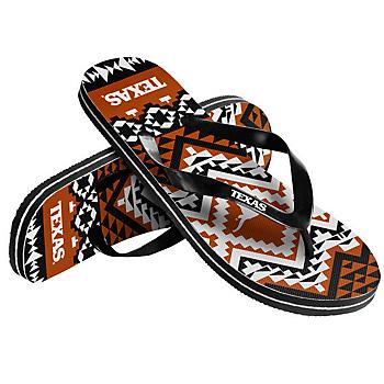 Texas Longhorns Womens Aztec Flip Flops