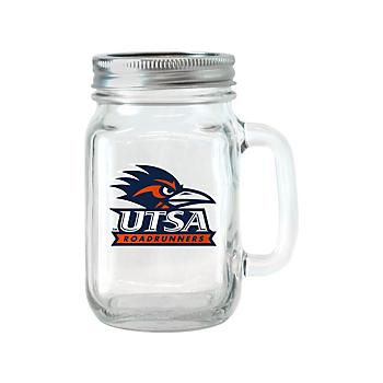 UTSA Roadrunners Glass Jar with Handle