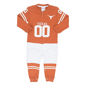 Texas Longhorns Glitter Gear Toddler Footysuit