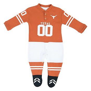 Texas Longhorns Glitter Gear Infant Footysuit