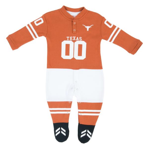 Texas Longhorns Glitter Gear Infant Footysuit
