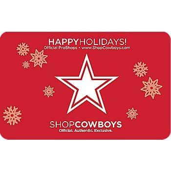 Dallas Cowboys Holiday Star Gift Card $5-$100