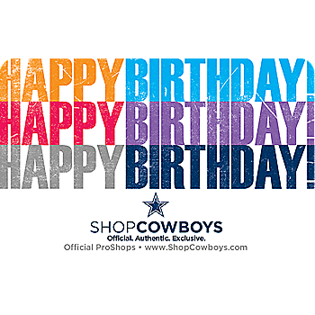 Dallas Cowboys Gift Card - Birthday