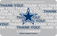 Dallas Cowboys Thanks Gift Card $5-$100