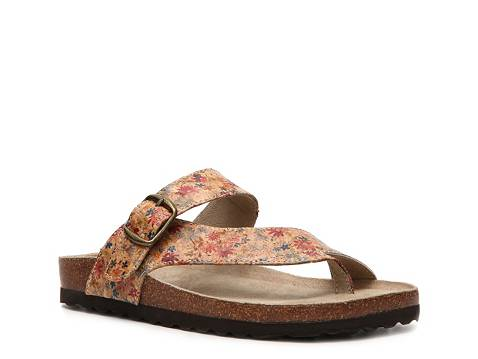 White Mountain Carly Floral Flat Sandal Dsw