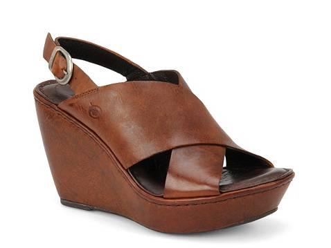 Born Emmy Leather Wedge Sandal Dsw