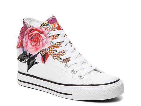 Converse Chuck Taylor All Star Flower High Top Wedge