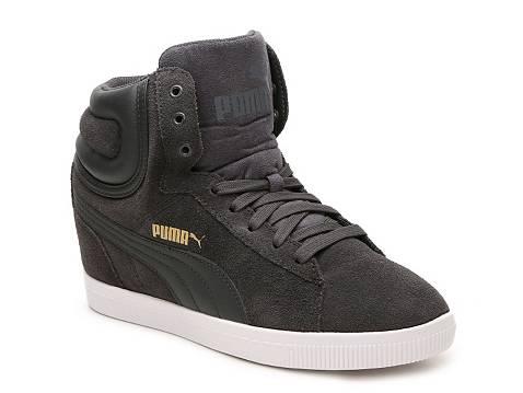 Puma Vikky High Top Wedge Sneaker Womens Dsw