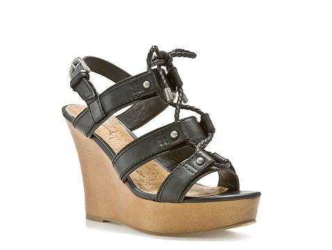 G By Guess Farrens Black Wedge Sandal Dsw
