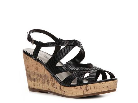 Dsw Black Wedges Knee High Gladiator Sandals