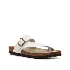White Mountain Carly Leather Flat Sandal Dsw