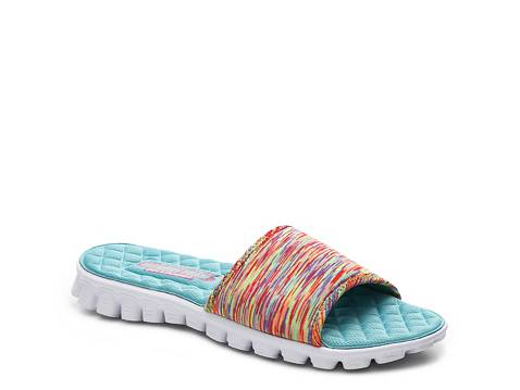 Skechers Ez Flex Cool Ocean Bound Slide Sandal Dsw