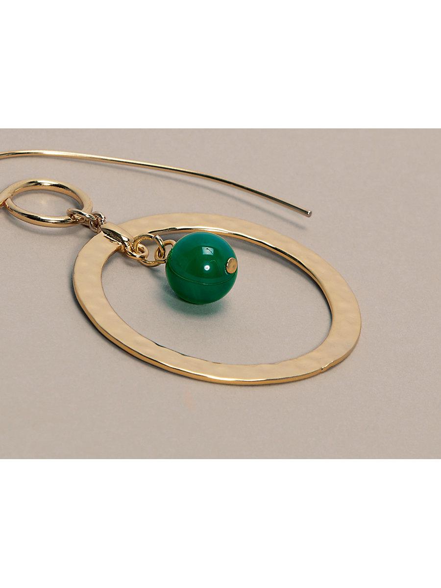 Gold Hoop Beaded Earrings