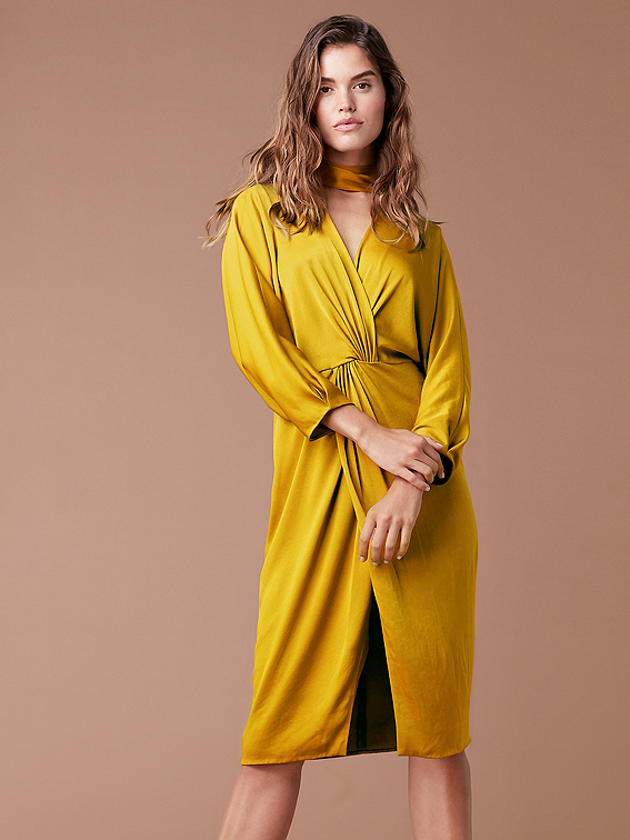 Front Twist Dress Landing Pages By Dvf