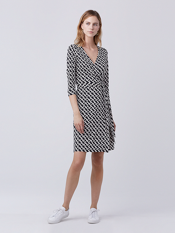 New Julian Two Silk Jersey Wrap Dress Landing Pages By Dvf