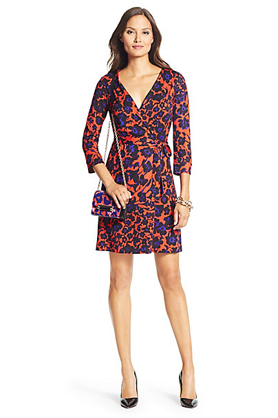 New Julian Two Mini Silk Jersey Wrap Dress In In Cheetah