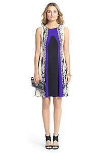 Color Block Dress Silk Dresses Designer Evening