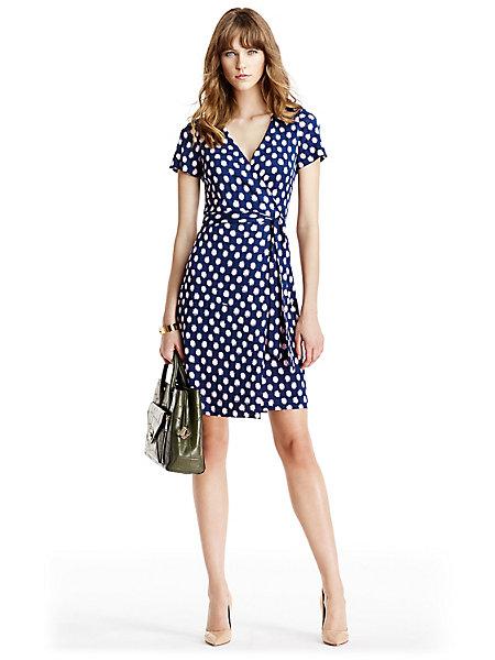New Julian Two Short Sleeve Silk Jersey Wrap Dress