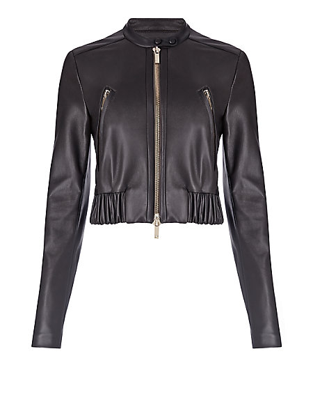 Dvf leather jacket