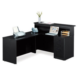 "Reception L-Desk - 60""W , D35701"
