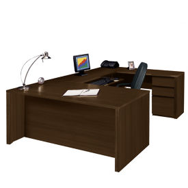 "Reversible Executive U-Desk - 93"" D x 72"" W, D35249"