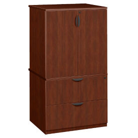 "Lateral File with Storage Hutch - 35""W, B34741"