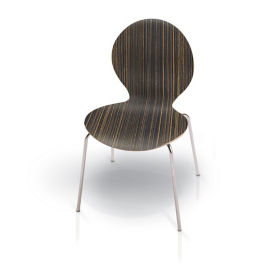 Laminate Round Back Stack Chair, C60229