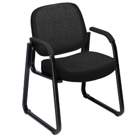 Sled Base Fabric Guest Chair , W60046