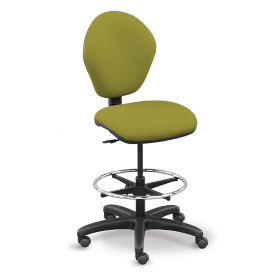 Fabric Standing Height Drafting Stool, C80490