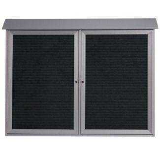 """2 Hinged Door Outdoor Message Center 40"""" x 52"""", B23217"""