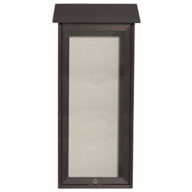 "Slimline Top Hinged Door Outdoor Message Center 34"" x 16"", B23225"