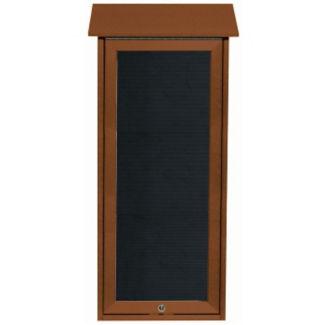 """Slimline Top Hinged Door Outdoor Message Center 34"""" x 16"""", B23227"""