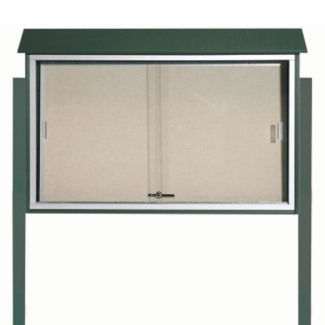 """45""""W x 30""""H Outdoor Display Board with Posts, B23237"""