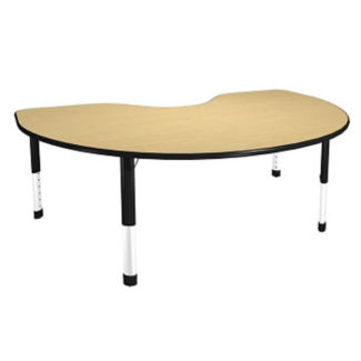 "Kidney-Shaped Activity Table - 72"" x 36"", A10025"