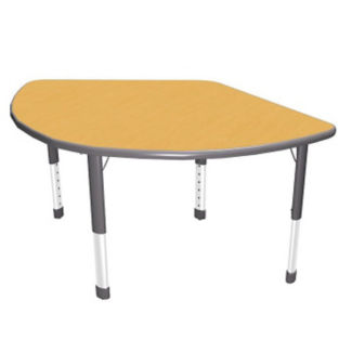 "Pie-Shaped Activity Table - 50"" x 35"", A10031"
