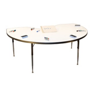 Kidney-Shaped Markerboard Table, A10979