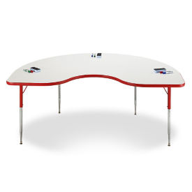 "Kidney White Board Table Top - 48""W x 72""D , A11313"