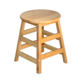 "Solid Hardwood Stool - 18""H, K00034"