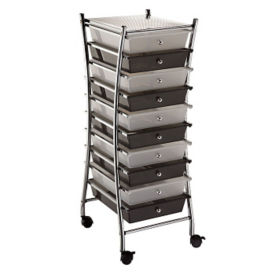 Ten Drawer Plastic Storage Cart, B34652