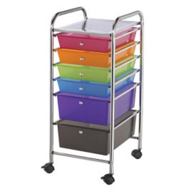 Multicolor Mobile Storage Cart 6 Drawer, B34272