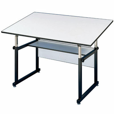 Compare WorkMaster Four Post Drafting Table With Black Base, A11119