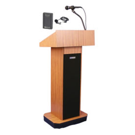 Wireless Executive Sound Column Lectern, M13107