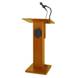 Wireless Lectern with Headset and Lapel Mic, M13166