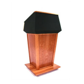 Wood and Fabric Non Sound Lectern, M13190