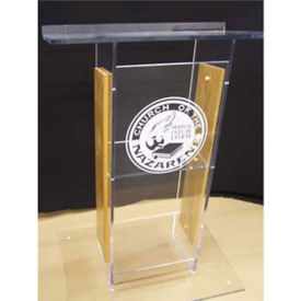 H Style Wood and Acrylic Lectern, M13208