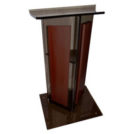 Modern Acrylic and Wood Lectern, M13210