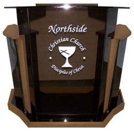 Deluxe Acrylic Lectern, M13213