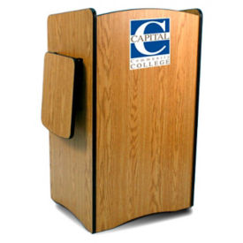 "Customizable Logo Lectern - 46-1/2""H, M16322"